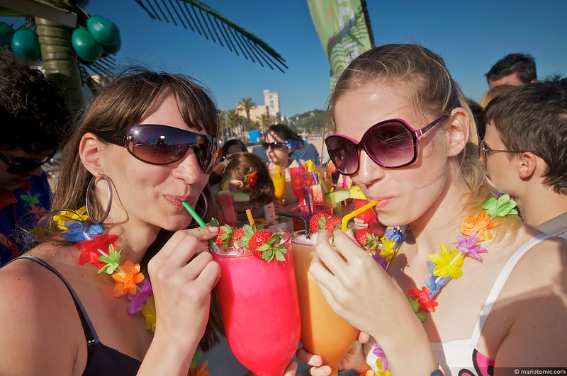 Strand cocktail spanje vakantie