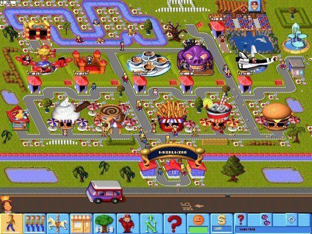 Theme Park 90's computers games