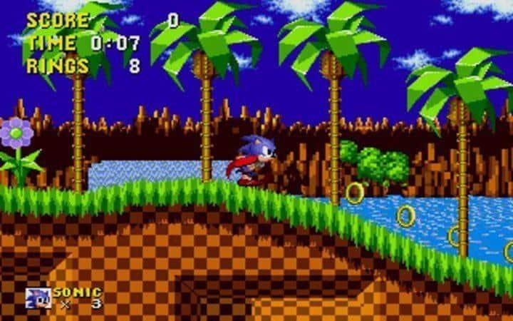 Sonic SeGA 90's computers games