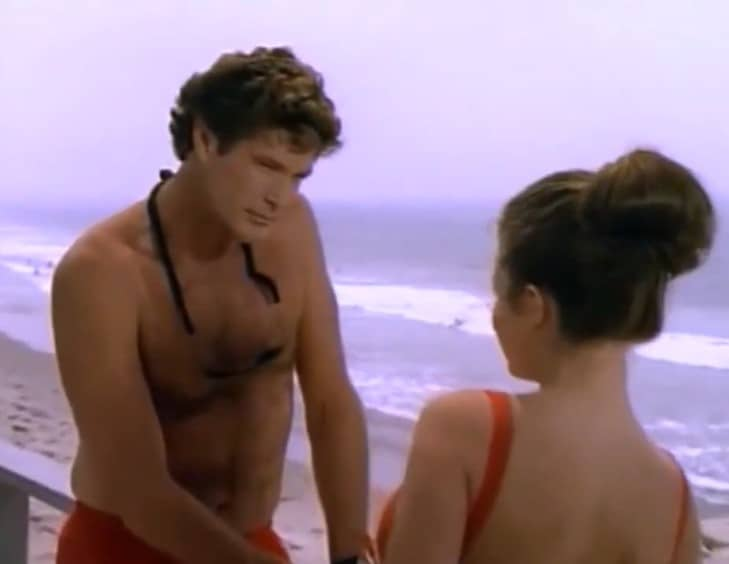 Baywatch levenslessen Mitch Buchanon David Hasselhoff blik