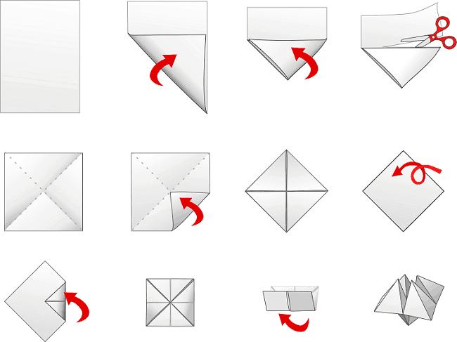 Happertje vouwen papier happertjes