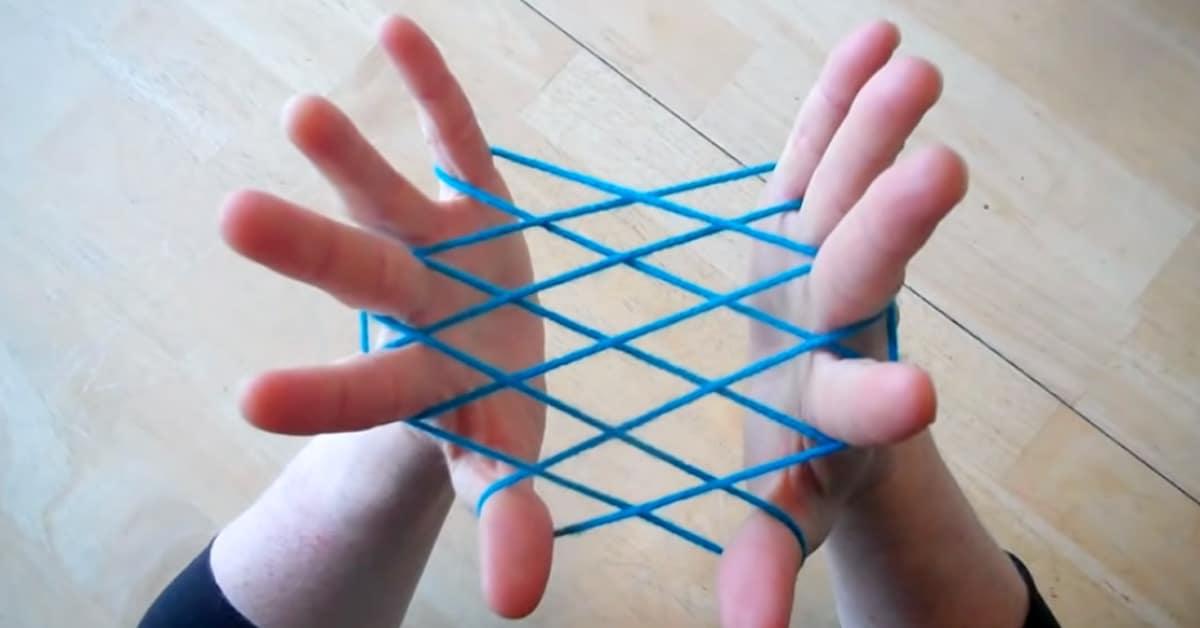 Touwfiguren touwtje truc knoop knopen vroeger