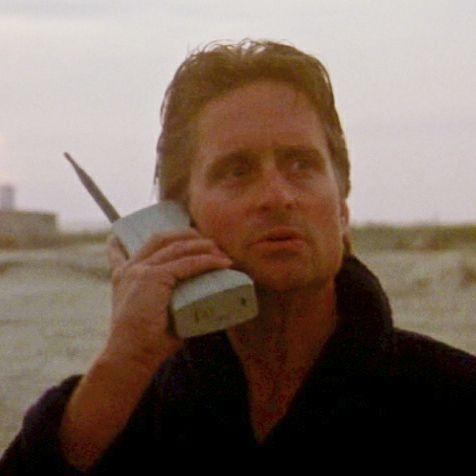 Gordon Gekko Wallstreet telefoon
