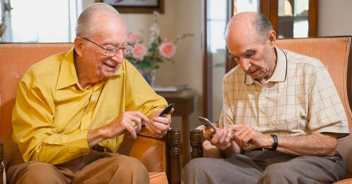 Ouderen telefoon mobiele smartphone generatie verpest