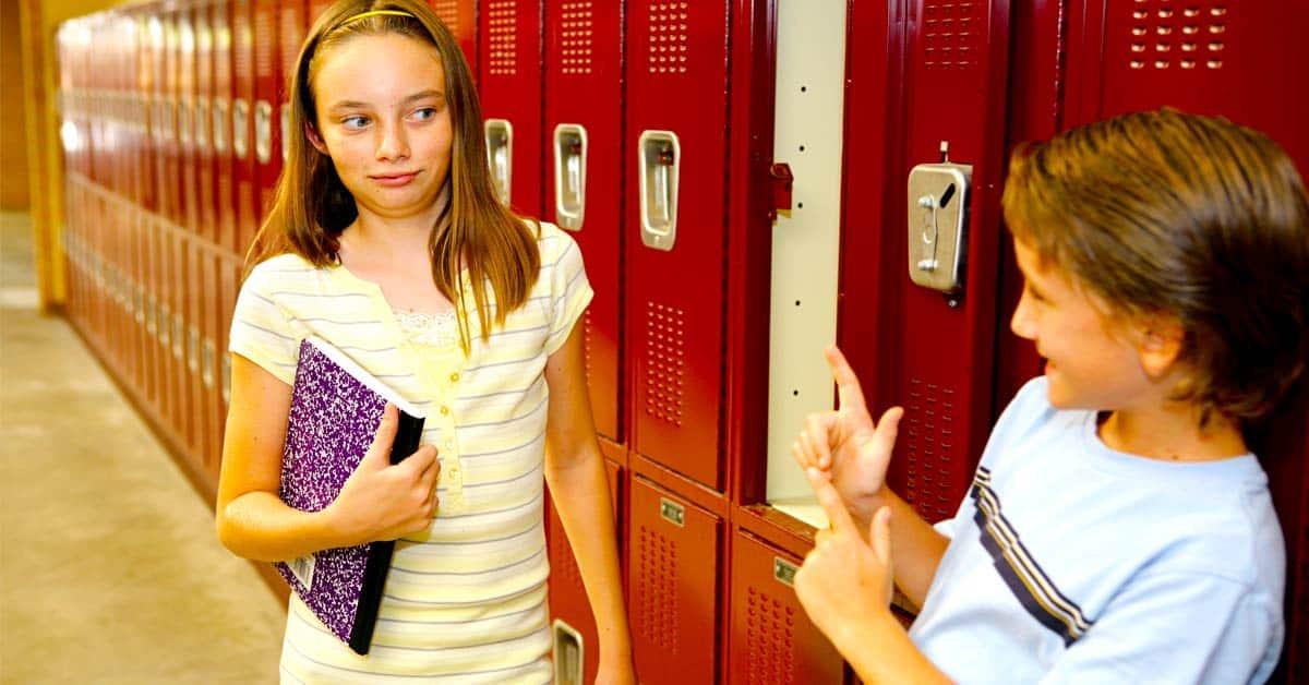 Verkering vragen school vroeger