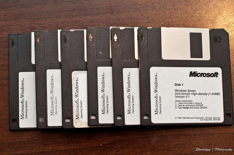 Floppy Disk Windows vroeger installeren