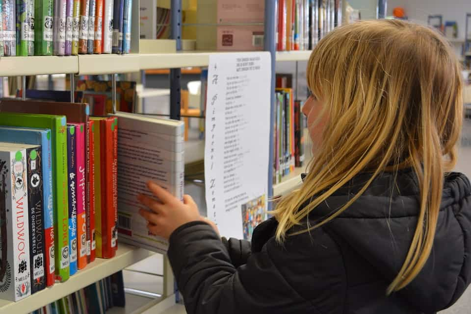 Bibliotheek vroeger woensdagmiddag