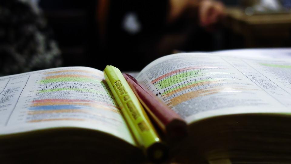 Markeren boeken studeren