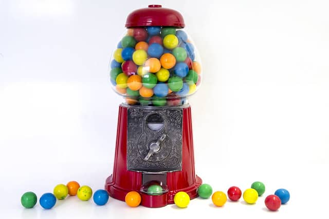 Kauwgom ballen automaat