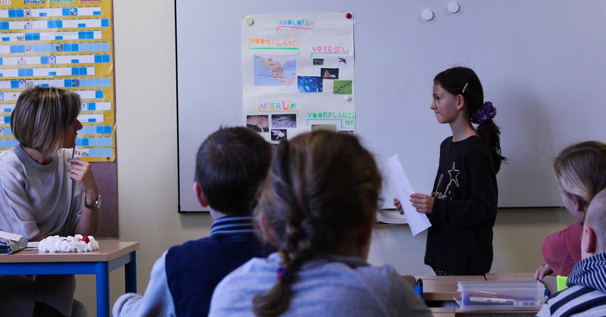 Spreekbeurt klas school