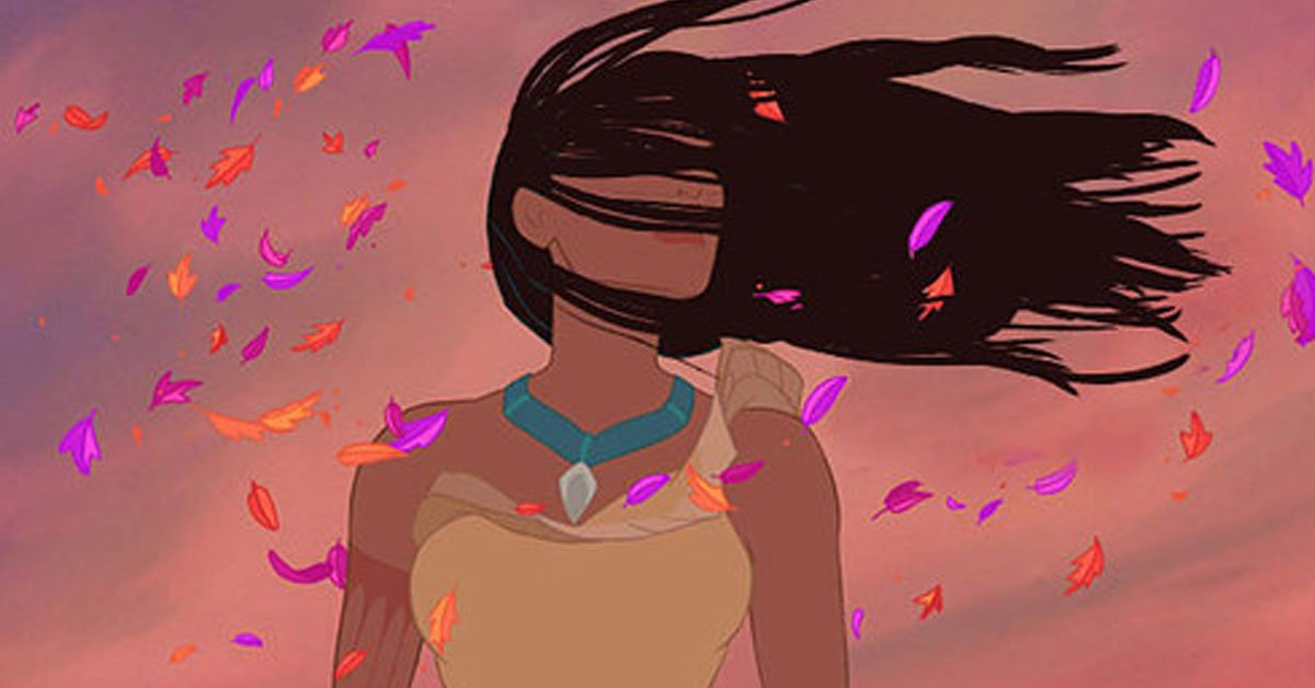 Disney pinsessen echt haar Pocahontas wind