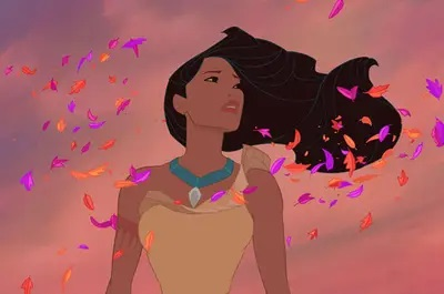 Disney pinsessen echt haar Pocahontas
