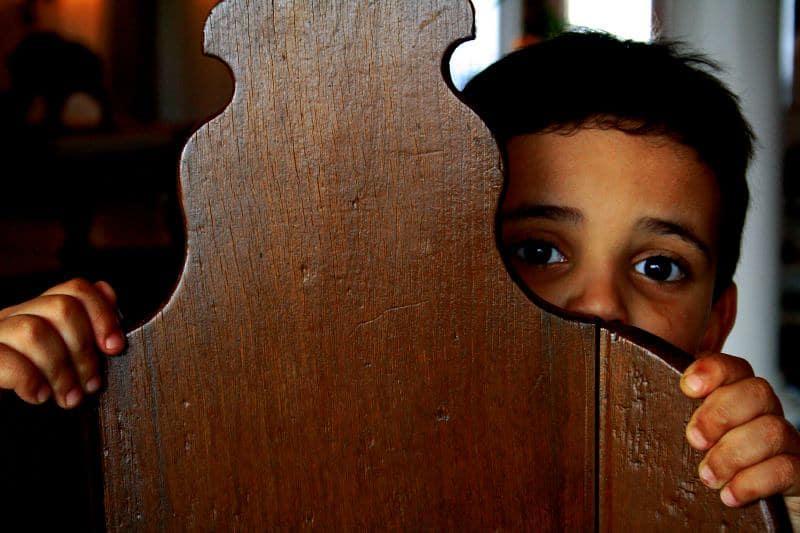 Kind bang angst enge zaken