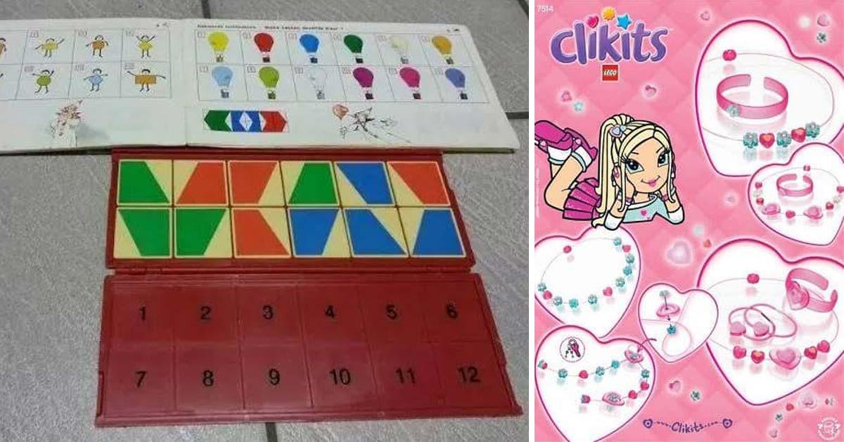 Speelgoed vroeger mini loco clikits