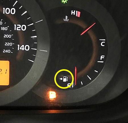 lichtje tankdop kant weetjes dashboard auto