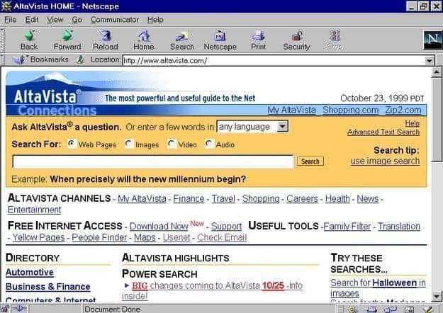 Altavista windows 95 vroeger