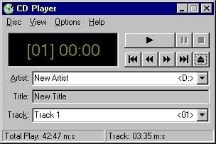 Windows 95 CD player speler
