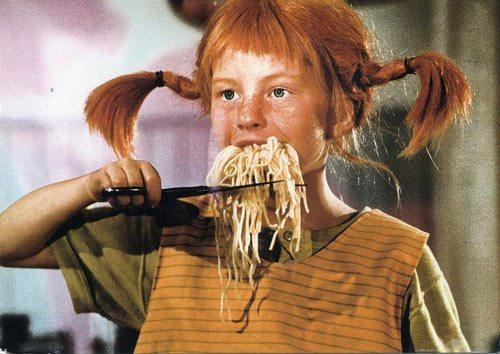 Pippi Langkous spagetti