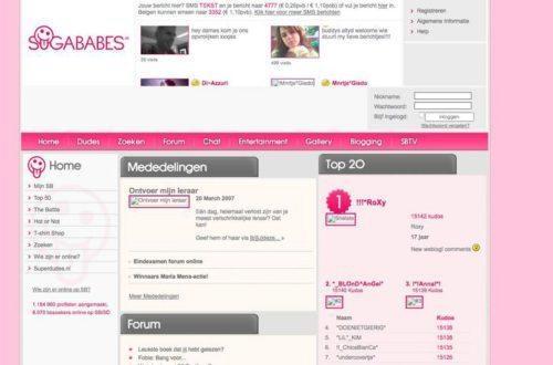 Websites van vroeger sugabaes