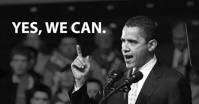 Barack Obama Yes we can tv-momenten vroeger