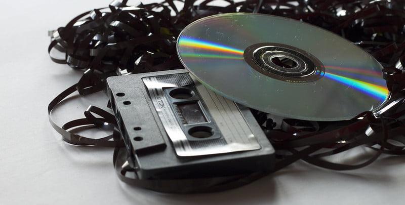 CD cassette vroeger CD-speler