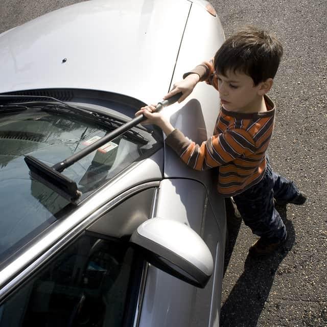 Auto wassen vroeger bijbaantje