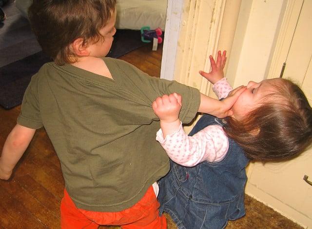 Broer ruzie zus kinderen vroeger