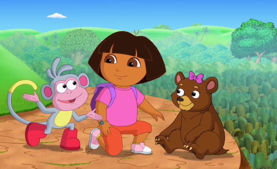 Dora the Explorer cool meiden in tekenfilms