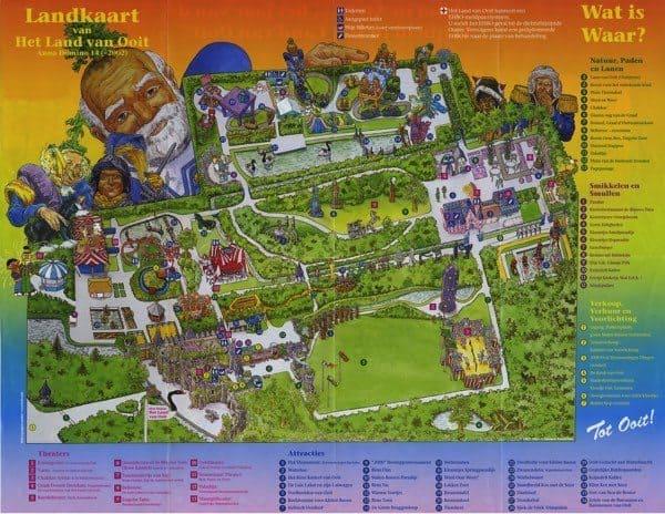 Land van Ooit Plattegrond kaart