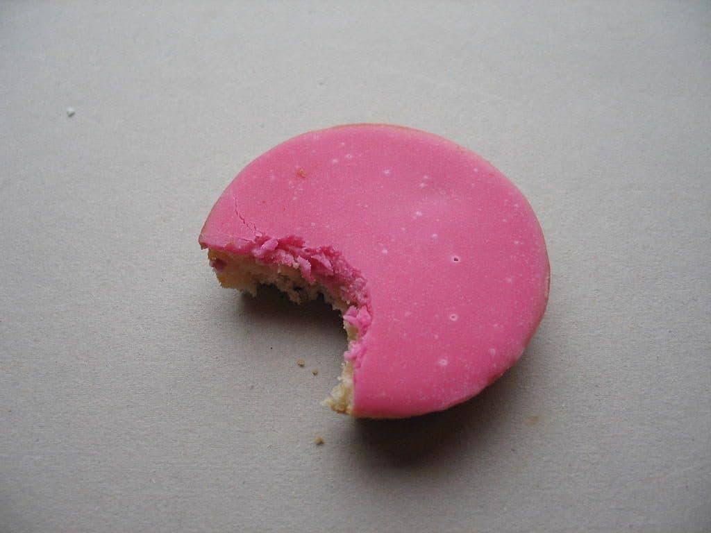Roze koek lekkernij snoep