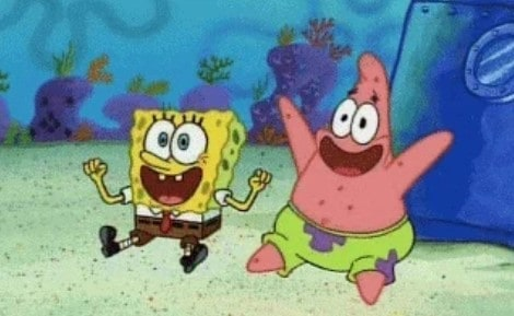 Spongebob squarepants tekenfilm cool patrick