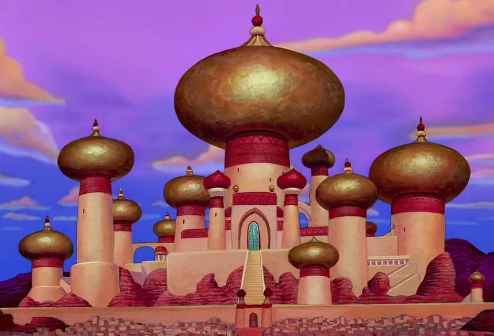 Aladdin paleis kasteel televisie disney