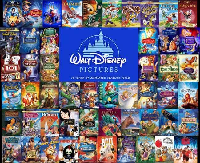 Disney films overzicht