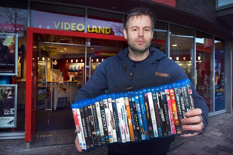 Videotheek vroeger video's DVD's