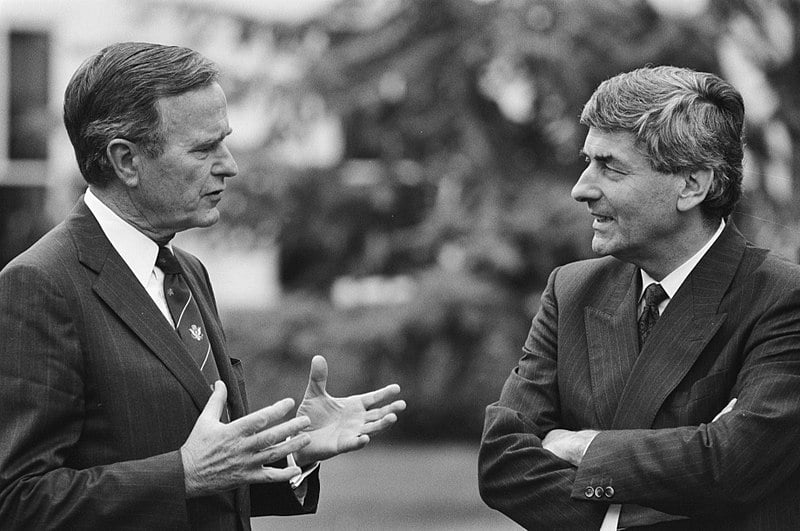Premier Ruud Lubbers minister-president Bush