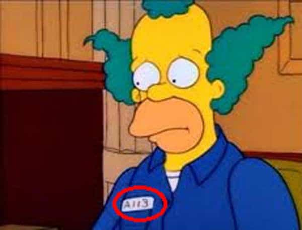 The simpsons a113