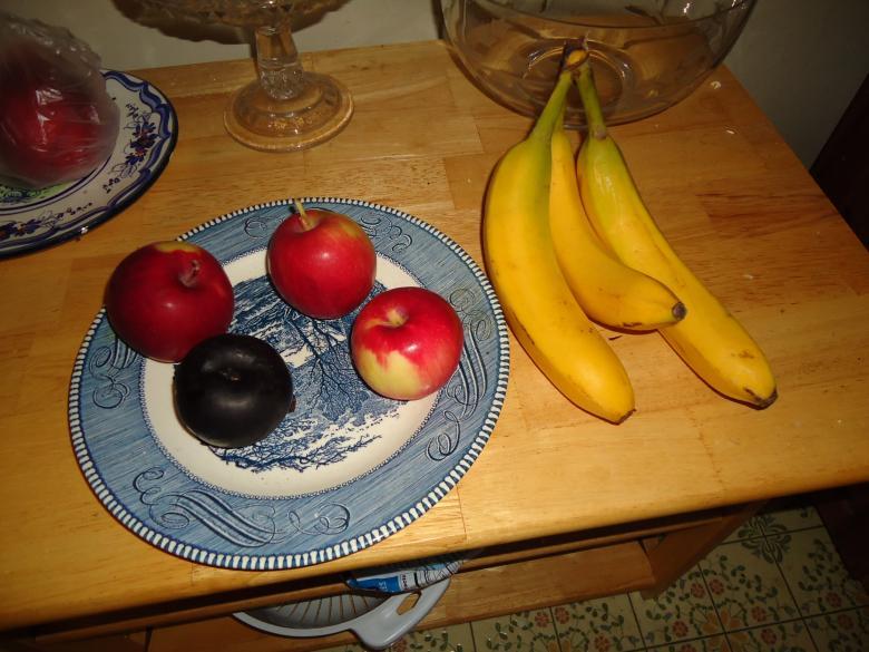 Appel banaan fruit bord vroeger vergelijkingen