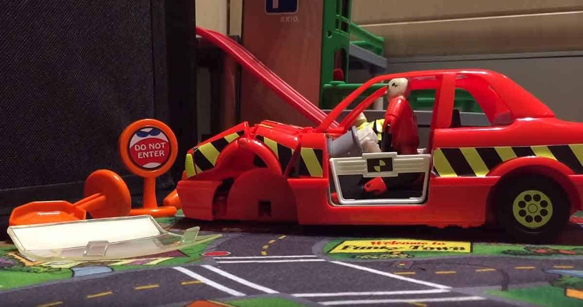 Crash Test Dummies speelgoed vroeger