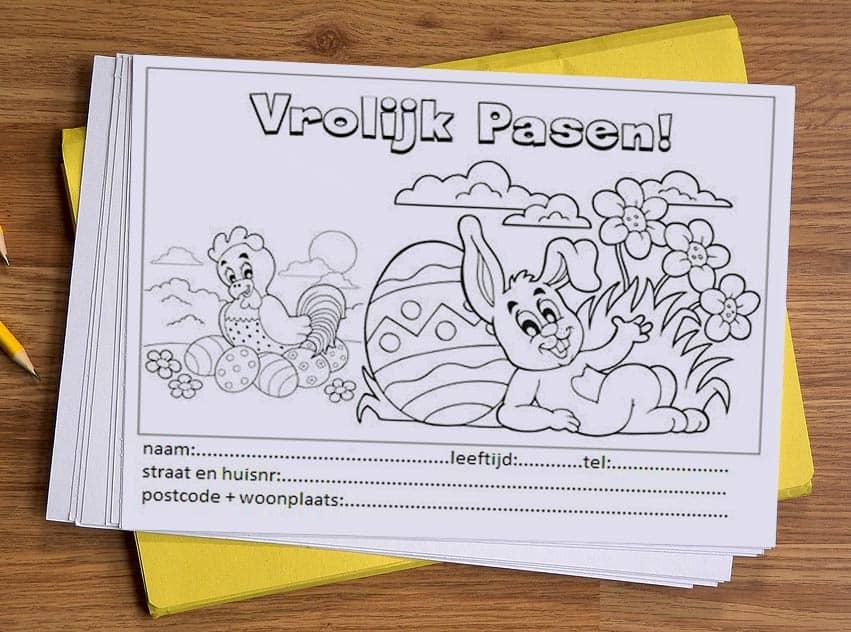Paashaas tekenwedstrijd pasen tekenen