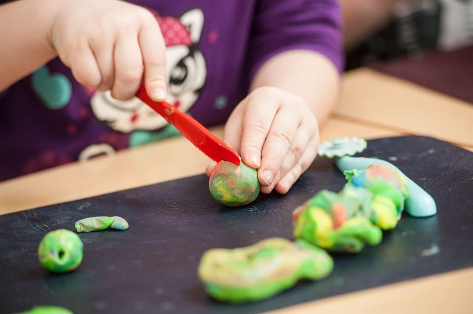 Play-doh knutselen