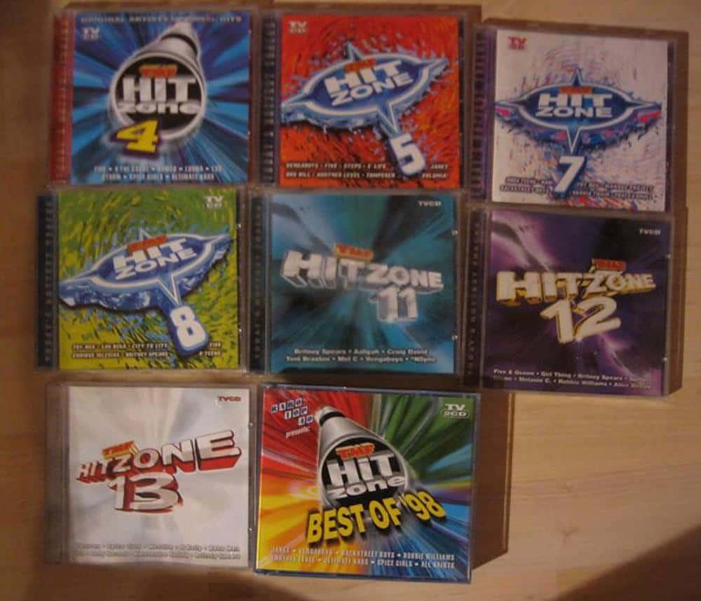Hitzone cd's muziek vroeger