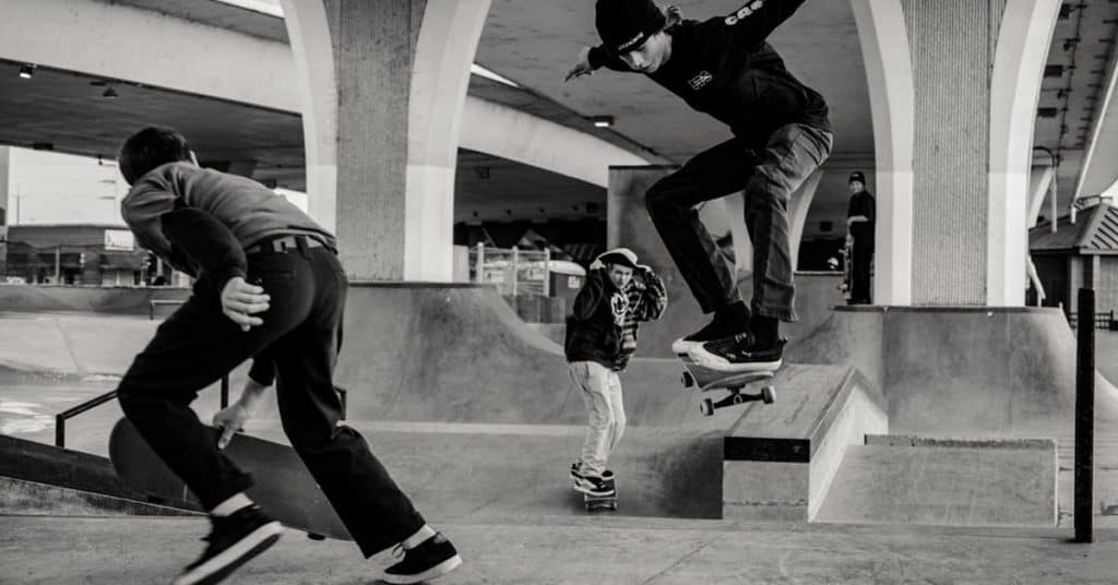 Skaters vroeger