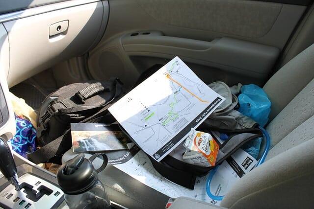 Auto vakantie rommel