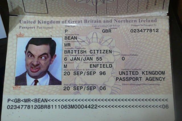 Bean paspoort film