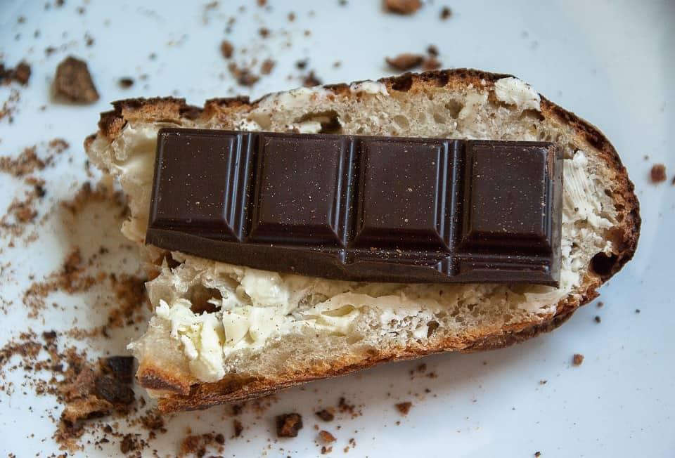 Chocolade op brood vroeger
