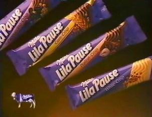 Lila Pause Milka reep chocolade school
