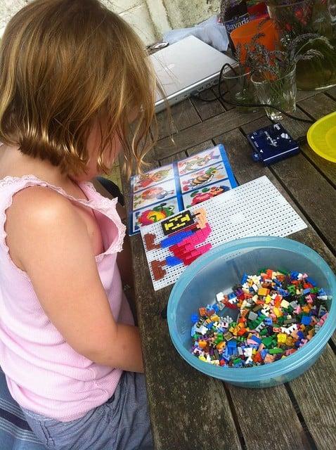 Ministeck puzzel steentjes speelgoed vroeger