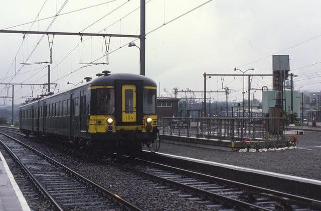 Trein nmbs vroeger spoor belgie