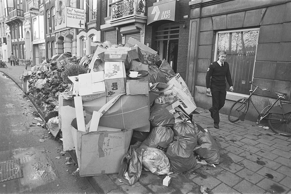 Vuilniszakken vroeger vuilnis