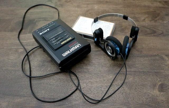 Walkman vroeger muziek luisteren cassette